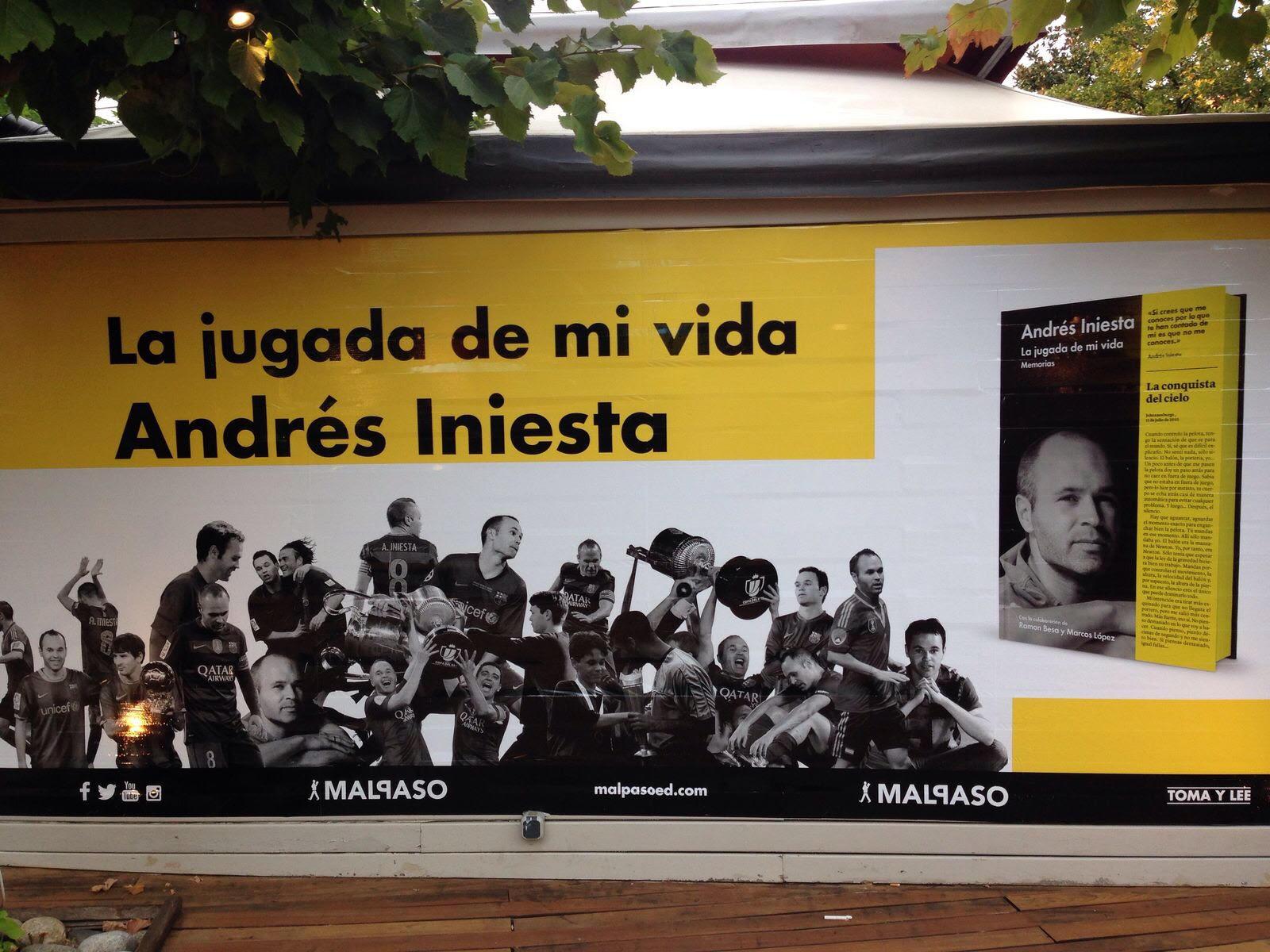 Presentación del libro de Andrés Iniesta